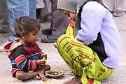 India, Uttarakhand, Haridwar. The Kumbh Mela Pilgrimage.