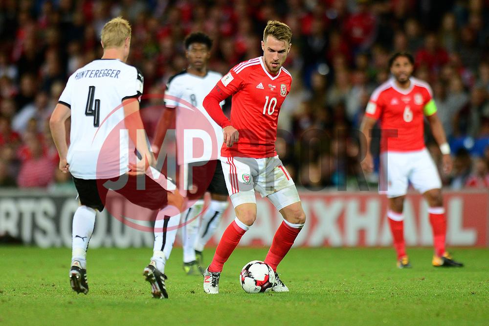 Aaron Ramsey of Wales - Mandatory by-line: Dougie Allward/JMP - 02/09/2017 - FOOTBALL - Cardiff City Stadium - Cardiff, Wales - Wales v Austria - FIFA World Cup Qualifier 2018