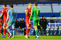 Birmingham City's Marc Roberts and Goalkeeper Marko Marosi of Coventry City congratulate one another after the final whistle - Mandatory by-line: Nick Browning/JMP - 20/11/2020 - FOOTBALL - St Andrews - Birmingham, England - Coventry City v Birmingham City - Sky Bet Championship