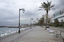 March 18, 2020, Beirut, Lebanon: The Corniche Beirut seaside promenade in Beirut Central District, Beirut, Lebanon is deserted as local authorities ban public gatherings to stop the spread of coronavirus. (Credit Image: © Amer Ghazzal/COVER Images via ZUMA Press)