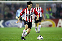 Fotball<br /> UEFA Champions League<br /> 17.09.2003<br /> PSV Eindhoven v Monaco<br /> Norway Only<br /> Foto: Digitalsport<br /> <br /> park ji-sung