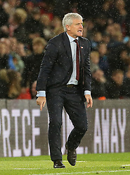 Southampton manager Mark Hughes gestures on the touchline during the Premier League match at St Mary's Stadium, Southampton.