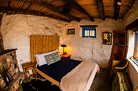A guest room at La Posada Milagro, a guest house in the Terlingua Ghosttown, near Big Bend National Park, Texas USA.