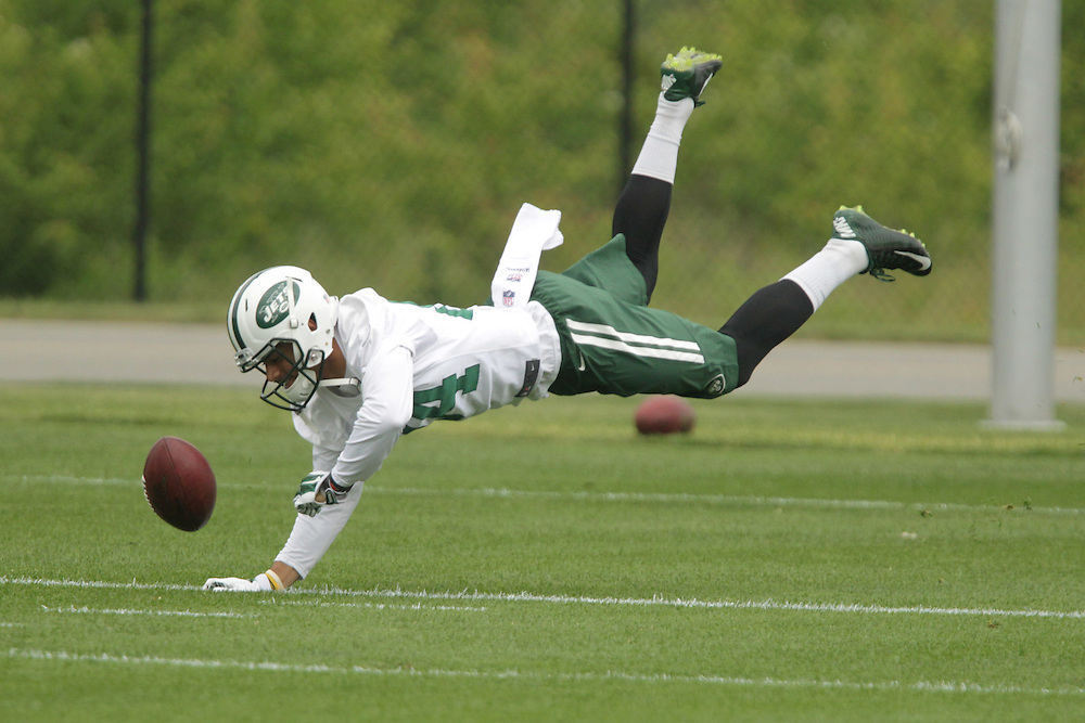 Jets Devin Smith (84) during the Jets OTA workouts at the team's training facility in Florham Park, NJ.  5/27/15 Photo by John O'Boyle for the New York Post