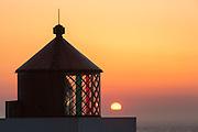 Sunset over Runde lighthouse, Norway   Solnedgang over fyrlykta på Runde.