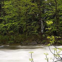 Spring along the Westfield River in Chester Massachusetts USA