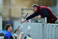 Andrew Sheridan interviews Bath Director of Rugby Stuart Hooper - Mandatory byline: Patrick Khachfe/JMP - 07966 386802 - 21/11/2020 - RUGBY UNION - The Recreation Ground - Bath, England - Bath Rugby v Newcastle Falcons - Gallagher Premiership