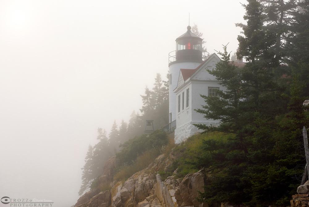 Bass Harbor Head Lighthouse, Acadia National Park, Mount Desert Island, Downeast, Maine.