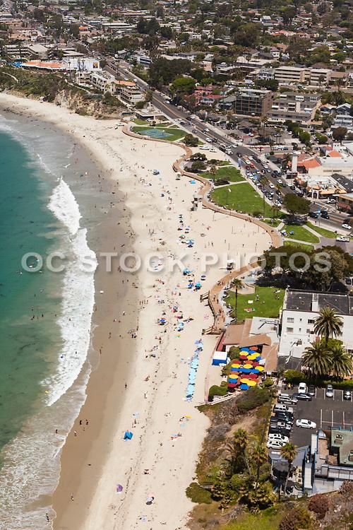 Laguna Beach Coastline Aerial Stock Photo