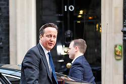 © Licensed to London News Pictures. 27/01/2015. LONDON, UK. Prime Minister David Cameron attending to a cabinet meeting in Downing Street on Tuesday, 27 January 2015. Photo credit: Tolga Akmen/LNP