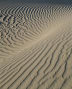 Sand patterns, sunrise, Mesquite Flat Sand Dunes, Death Valley National Park, California