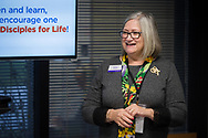 Debbie Larson, president of the Lutheran Women's Missionary League (LWML), presents during the Making Disciples for Life Initial Gathering on Friday, Jan. 10, 2020, at the International Center of The Lutheran Church–Missouri Synod in St. Louis. LCMS Communications/Erik M. Lunsford