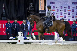 Graves Laura, USA, Verdades<br /> Training session<br /> FEI World Cup Dressage Final, Omaha 2017 <br /> © Hippo Foto - Jon Stroud<br /> 29/03/2017