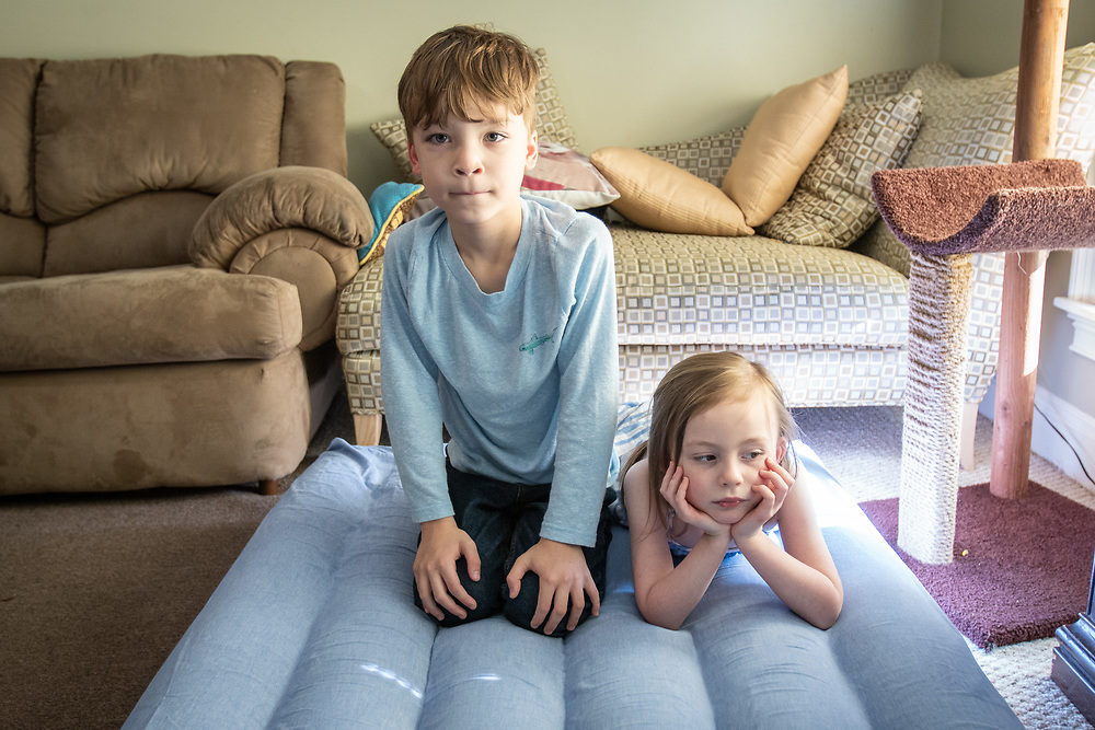 Sam and Eleanor play in their Bluffton-area living room.