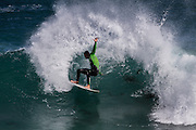 Surfing at Boodjidup, Margaret River, Western Australia.  Buy your surf photos online.  nzsurfpix.com :: Silas Hansen