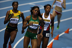 07.03.2014, Ergo Arena, Sopot, POL, IAAF, Leichtathletik Indoor WM, Sopot 2014, Tag 1, im Bild Regina George (Jamaica) competite during the 400 meters run // Regina George (Jamaica) competite during the 400 meters run during day one of IAAF World Indoor Championships Sopot 2014 at the Ergo Arena in Sopot, Poland on 2014/03/07. EXPA Pictures © 2014, PhotoCredit: EXPA/ Newspix/ Michal Fludra<br /> <br /> *****ATTENTION - for AUT, SLO, CRO, SRB, BIH, MAZ, TUR, SUI, SWE only*****