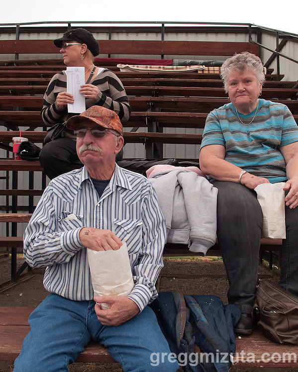 Bruce and Norma Arbogast came from Elgin to watch their grandson Sage Delong compete in the Vale - Baker football game, September 26, 2014 at Frank Hawley Stadium, Vale, Oregon. Sage Delong had a 48 yard TD reception in Vale's 58-28 win.