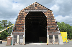 Second Photo Shoot Progress View. CT-DOT East Granby Salt Shed Rehabilitation Project. No. 039-097