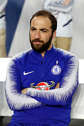 May 15, 2019 - Foxborough, MA, U.S. - FOXBOROUGH, MA - MAY 15: Chelsea FC forward Gonzalo Higua'n (9) before the Final Whistle on Hate match between the New England Revolution and Chelsea Football Club on May 15, 2019, at Gillette Stadium in Foxborough, Massachusetts. (Photo by Fred Kfoury III/Icon Sportswire) (Credit Image: © Fred Kfoury Iii/Icon SMI via ZUMA Press)