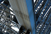 Detail of steelwork and rivets in the Sydney Harbour Bridge. Approximately 6 million rivets and 52,800 tonnes of steel were used in constructing the bridge, the largest (but not the longest) steel arch bridge in the world. Sydney, Australia
