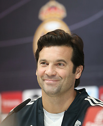 November 23, 2018 - Madrid, Spain - Real Madrid's Argentinian coach Santiago Solari addresses a press conference before the match of Liga Spanish against Eibar in Madrid, Spain, on 23 November 2018. (Credit Image: © Raddad Jebarah/NurPhoto via ZUMA Press)