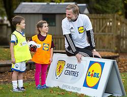 Steven Pressley during a surprise Lidl Skills Centre Visit to Inverclyde-St Columba's Junior School, Kilmacolm, Renfrewshire.