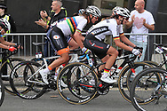 Women Road Race 129,4 km, Chantal Blaak ( Netherlands) and Liane Lippert (Germany) during the Road Cycling European Championships Glasgow 2018, in Glasgow City Centre and metropolitan areas Great Britain, Day 4, on August 5, 2018 - Photo Laurent lairys / ProSportsImages / DPPI