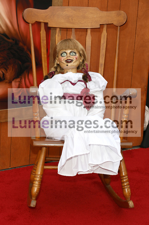 Annabelle at the Los Angeles premiere of 'Annabelle Comes Home' held at the Regency Village Theatre in Westwood, USA on June 20, 2019.