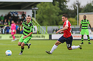 Forest Green Rovers Liam Noble (15) on the attack during the Vanarama National League match between Forest Green Rovers and York City at the New Lawn, Forest Green, United Kingdom on 20 August 2016. Photo by Shane Healey.