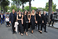 Nathalie Rykiel during the funeral ceremony of French designer Sonia Rykiel at the Montparnasse cemetery in Paris, France on September 1, 2016. The 86 years old pioneer of Parisian womenswear from the late 1960's onwards, has died from a Parkinson's disease-related illness. Photo by Alban Wyters/ABACAPRESS.COM