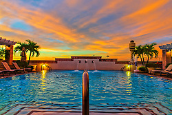 The Pool at the Hyatt Regency Orlando International Airport at sunrise