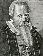 'Nicolaus Mulerius (1564-1630) Dutch physician, mathematician and astronomer, first professor of mathematical sciences at Groningen. Engraving c1725.'