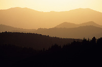 Hazy ridgelines of the Gros Ventre Mountains in Jackson Hole, Wyoming.