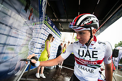 Tadej Pogacar (SLO) of UAE Team Emirates before 4th Stage of 26th Tour of Slovenia 2019 cycling race between Nova Gorica and Ajdovscina (153,9 km), on June 22, 2019 in Slovenia. Photo by Vid Ponikvar / Sportida