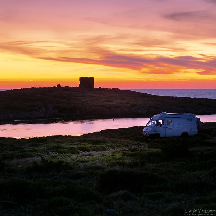 Cape Favaritx, in a van.