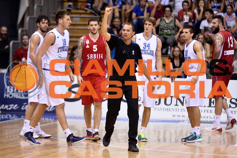 DESCRIZIONE : Trieste Nazionale Italia Uomini Torneo internazionale Italia Serbia Italy Serbia<br /> GIOCATORE : Arbitro<br /> CATEGORIA : Arbitro<br /> SQUADRA : Arbitro<br /> EVENTO : Torneo Internazionale Trieste<br /> GARA : Italia Serbia Italy Serbia<br /> DATA : 05/08/2014<br /> SPORT : Pallacanestro<br /> AUTORE : Agenzia Ciamillo-Castoria/GiulioCiamillo<br /> Galleria : FIP Nazionali 2014<br /> Fotonotizia : Trieste Nazionale Italia Uomini Torneo internazionale Italia Serbia Italy Serbia