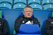 Sheffield United manager Chris Wilder  during the EFL Sky Bet Championship match between Sheffield Wednesday and Sheffield Utd at Hillsborough, Sheffield, England on 24 September 2017. Photo by Adam Rivers.