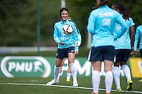 Louisa Necib - 13.05.2015 - Entrainement - Equipe de France de Football feminin<br /> Photo : Andre Ferreira / Icon Sport