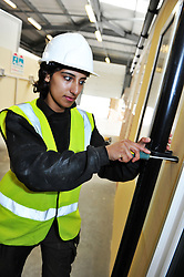 Young Female Plumbing Apprentice, Bradford. UK