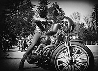 Bike Week Iron Lilies ride from Meredith and Weirs Beach.  Karen Bobotas for the Laconia Daily Sun