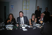 ZAHA HADID AND ALASDHAIR WILLIS, Dinner given by Established and Sons to celebrate Elevating Design.  P3 Space. University of Westminster, 35 Marylebone Rd. London NW1. -DO NOT ARCHIVE-© Copyright Photograph by Dafydd Jones. 248 Clapham Rd. London SW9 0PZ. Tel 0207 820 0771. www.dafjones.com.
