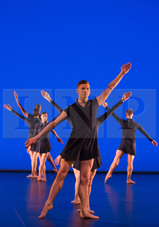 © Licensed to London News Pictures. 17/10/2012. London, England. Benjamin Warbis at front. Barbican Artistic Associate Michael Clark Company return to the Barbican Theatre from 17 to 27 October 2012 with a double bill of new work choreographed to music by Scritti Politti and Relaxed Muscle.  Photo credit: Bettina Strenske/LNP