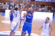 CHOMUTOV 18 AGOSTO 2012<br /> BASKET FIP NAZIONALE ITALIANA<br /> ITALIA - REPUBBLICA CECA<br /> NELLA FOTO CUSIN<br /> FOTO CIAMILLO