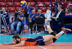 Yannick van Harskamp #2 during volleyball match between National teams of Netherlands and Slovenia in Playoff of 2015 CEV Volleyball European Championship - Men, on October 13, 2015 in Arena Armeec, Sofia, Bulgaria. Photo by Ronald Hoogendoorn / Sportida