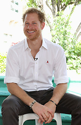 Prince Harry before taking part in a live HIV test, at the 'Man Aware' event held by the Barbados National HIV/AIDS Commission in Bridgetown, Barbados, during his tour of the Caribbean.