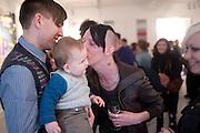 STUART SEMPLE; ARI SEMPLE; KRAIG WILSON, Stuart Semple exhibition. Morton Metropolis. Berners St. London. 5 May 2010 *** Local Caption *** -DO NOT ARCHIVE-© Copyright Photograph by Dafydd Jones. 248 Clapham Rd. London SW9 0PZ. Tel 0207 820 0771. www.dafjones.com.<br /> STUART SEMPLE; ARI SEMPLE; KRAIG WILSON, Stuart Semple exhibition. Morton Metropolis. Berners St. London. 5 May 2010