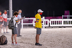 Kai-Steffen Maier, GER, husband, trainer of Lara De Liedekreke-Meier<br /> Olympic Games Tokyo 2021<br /> © Hippo Foto - Dirk Caremans<br /> 26/07/2021