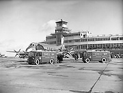 07/03/1954<br /> 03/07/1954<br /> 07 March 1954<br /> Arrival of new Vickers Viscount aircraft at Dublin Airport.