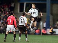 Junichi Inamoto (Fulham). Fulham v Manchester United. 28/2/04. Credit : Digitalsport/Andrew Cowie.