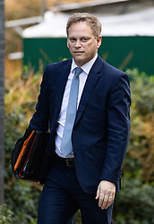 © Licensed to London News Pictures. 11/02/2020. London, UK. Transport Minister Grant Shapps arriving in Downing Street to attend a Cabinet meeting this morning. An announcement on the high speed rail line 'HS2' is expected today. Photo credit : Tom Nicholson/LNP